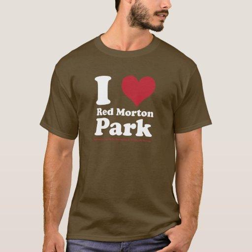 AMO el parque rojo de Morton Playera