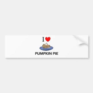 Amo el pastel de calabaza pegatina de parachoque