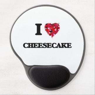 Amo el pastel de queso alfombrilla de raton con gel
