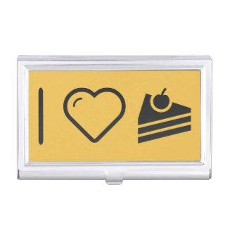 Amo el pastel de queso caja de tarjetas de negocios