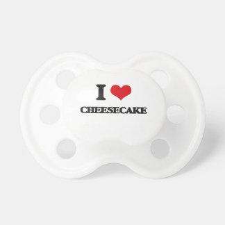 Amo el pastel de queso chupete de bebe
