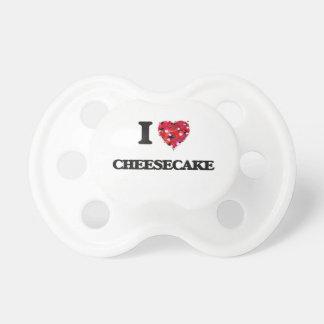 Amo el pastel de queso chupetes de bebé