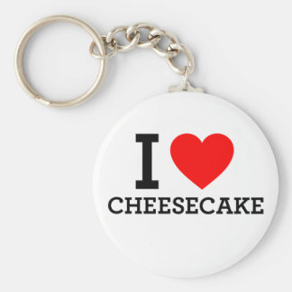 Amo el pastel de queso llavero redondo tipo pin