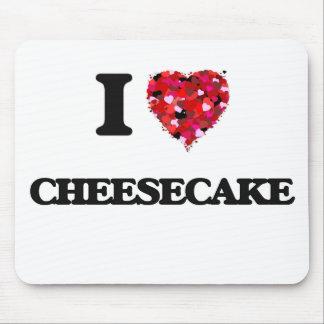 Amo el pastel de queso mousepads