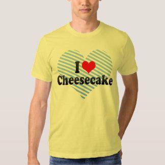 Amo el pastel de queso playeras