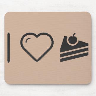 Amo el pastel de queso tapete de raton
