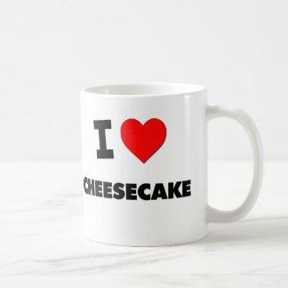 Amo el pastel de queso tazas de café