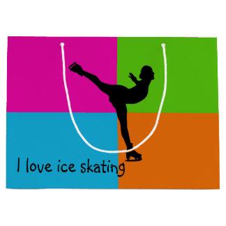 Amo el patinaje de hielo - bolso del regalo bolsa de regalo grande