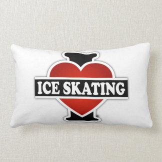 Amo el patinaje de hielo cojín