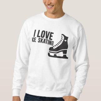 Amo el patinaje de hielo (el patinaje artístico) sudadera