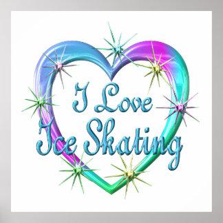 Amo el patinaje de hielo póster