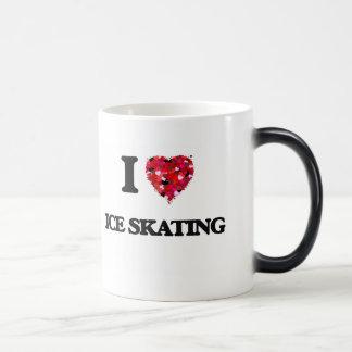 Amo el patinaje de hielo taza mágica