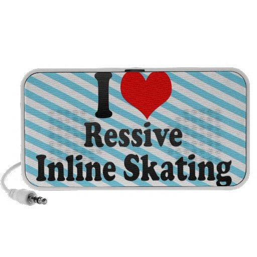 Amo el patinaje en línea de Ressive Altavoces De Viaje