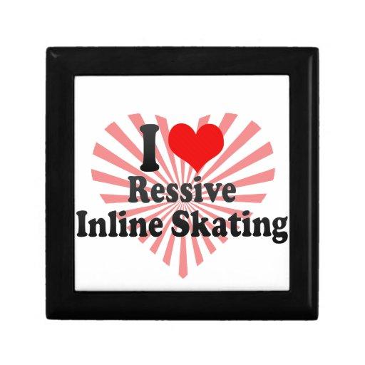 Amo el patinaje en línea de Ressive Caja De Recuerdo