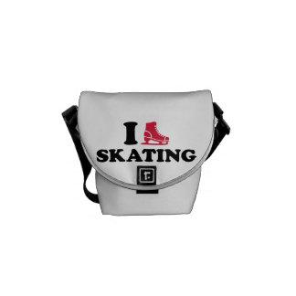 Amo el patinar bolsas messenger