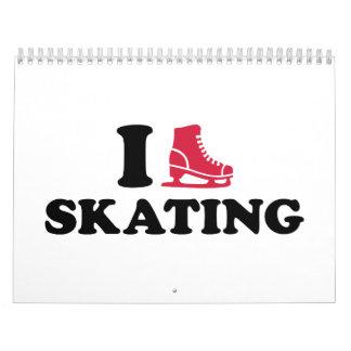 Amo el patinar calendarios