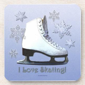 Amo el patinar posavasos de bebida