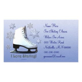 Amo el patinar tarjetas de visita