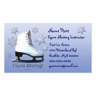 Amo el patinar plantilla de tarjeta de negocio
