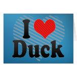 Amo el pato tarjetas