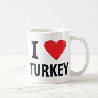 Amo el pavo tazas de café