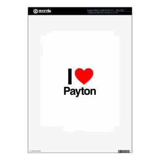 amo el payton iPad 3 skin