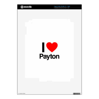 amo el payton iPad 2 calcomanía