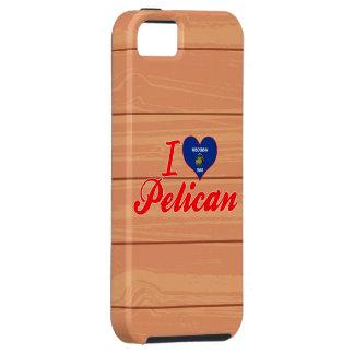 Amo el pelícano Wisconsin iPhone 5 Case-Mate Coberturas