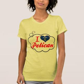 Amo el pelícano Wisconsin Camisetas