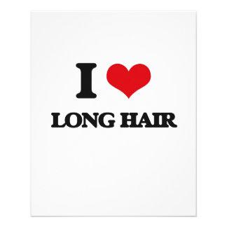 Amo el pelo largo folleto 11,4 x 14,2 cm