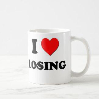 Amo el perder taza básica blanca