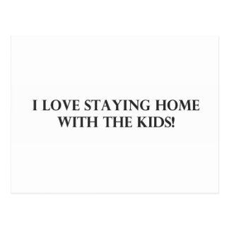 Amo el permanecer casero con el Kids.pdf Postal