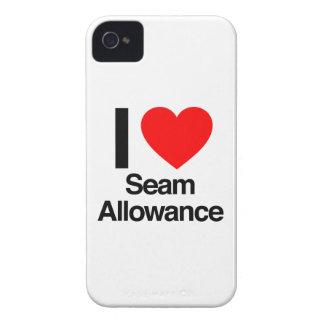 amo el permiso de la costura iPhone 4 protectores