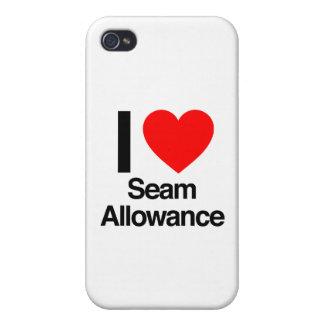 amo el permiso de la costura iPhone 4/4S carcasa