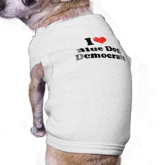 AMO el PERRO AZUL DEMOCRATS png Camisetas Mascota