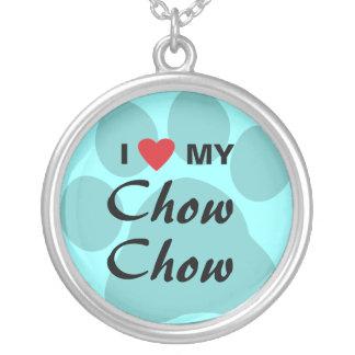 Amo el perro chino de perro chino (del corazón) Pa Colgante Redondo