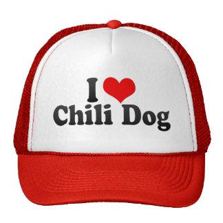 Amo el perro de chile gorro de camionero