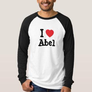 Amo el personalizado del corazón de Abel Poleras