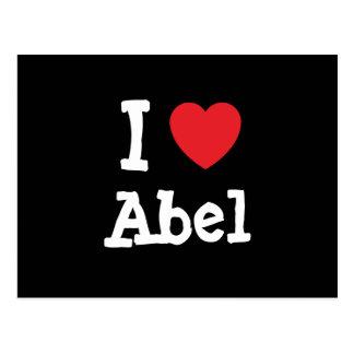 Amo el personalizado del corazón de Abel Postal