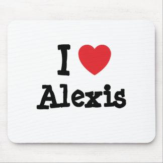 Amo el personalizado del corazón de Alexis persona Mouse Pads