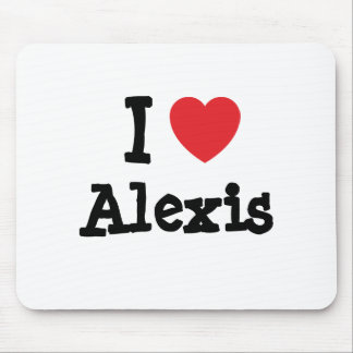 Amo el personalizado del corazón de Alexis persona Alfombrilla De Raton