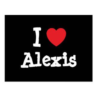 Amo el personalizado del corazón de Alexis Postales