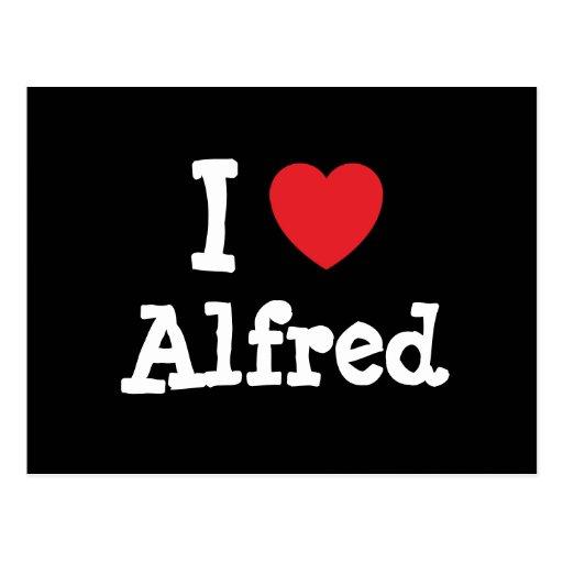 Amo el personalizado del corazón de Alfred Postal