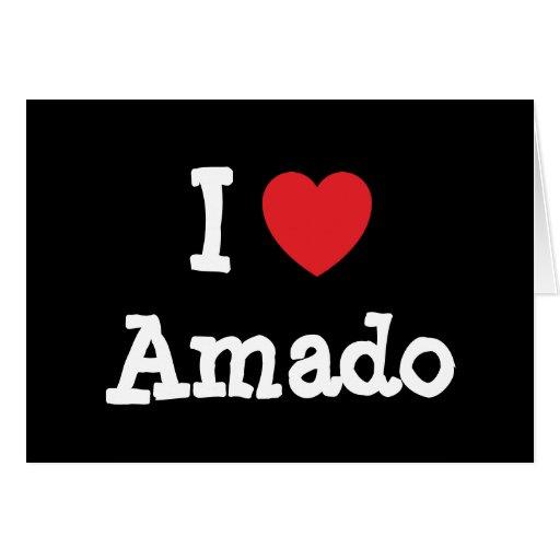 Amo el personalizado del corazón de Amado personal Tarjeta De Felicitación