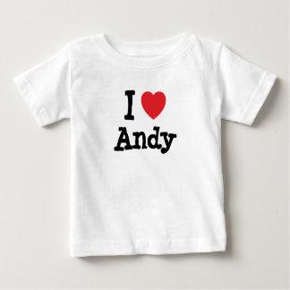 Amo el personalizado del corazón de Andy Camiseta