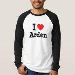 Amo el personalizado del corazón de Arden Playera