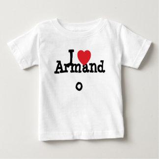 Amo el personalizado del corazón de Armando T-shirt