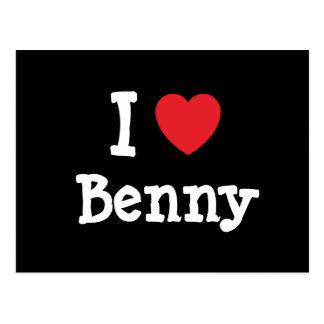 Amo el personalizado del corazón de Benny Postal