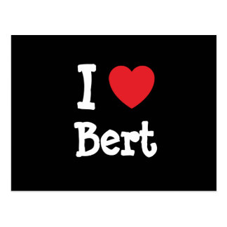 Amo el personalizado del corazón de Bert Tarjeta Postal