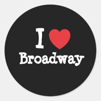 Amo el personalizado del corazón de Broadway perso Etiquetas